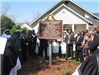 Antioch Missionary Baptist Church Historical Marker with Crowd