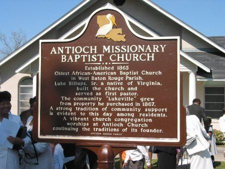 Antioch Missionary Baptist Church Sign