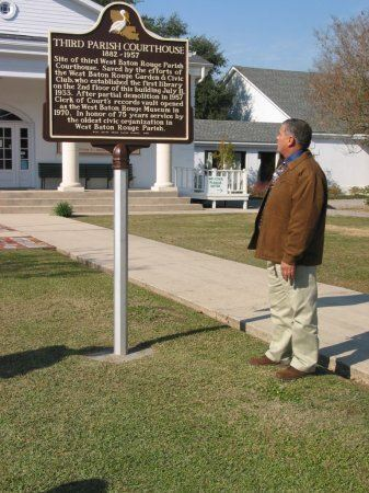 Man with the historical marker