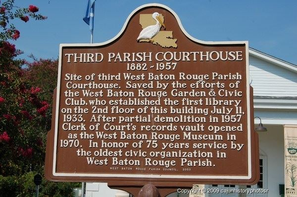 Third Parish Courthouse Historical Marker